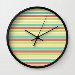 summer lines Wall Clock