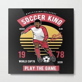 Soccer Footballer Gifts Soccer Coach Sport Metal Print