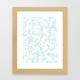 Spots - White and Light Cyan Framed Art Print