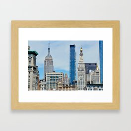 Heights and Sights NYC Framed Art Print