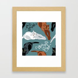 What color is my Cat? Framed Art Print