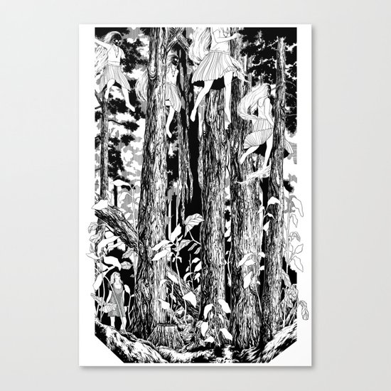 'The trees stir with noises of women who have lost themselves' Canvas Print