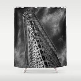 Flat Iron Monochrome Shower Curtain
