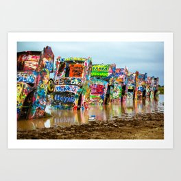 Sunken Cadillacs Art Print