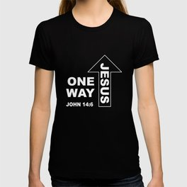 Christian T-Shirt, One Way Jesus, Bible verse John 14:6 T-shirt
