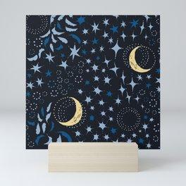 Moon Among the Stars - Stars At Night Version Mini Art Print