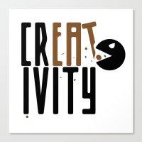 creativity Canvas Prints featuring creativity by Andrea Bettin ART