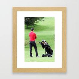 The golfer Framed Art Print