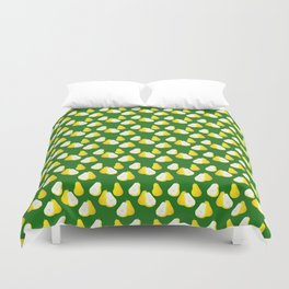 Watercolor Pear Pattern ~ Green Duvet Cover