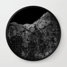Cleveland map Ohio Wall Clock