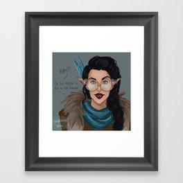 Vex in Percy's Glasses Framed Art Print