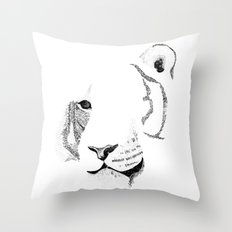 Amur Tiger - Can You See How Much Is Left? Throw Pillow