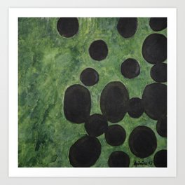 Black Points above Green Art Print