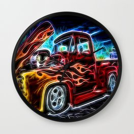 Neon Ford F-100 Pick-up Truck  Wall Clock