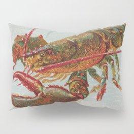 Vintage Illustration of a Lobster (1889) Pillow Sham