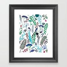 Plant pattern Framed Art Print