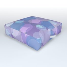 Pastel Pink and Blue Balls Outdoor Floor Cushion