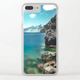 Summertime Lakeside - Crater Lake Clear iPhone Case