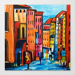 Afternoon Walk Downtown Canvas Print