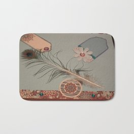 Feathered picture Bath Mat