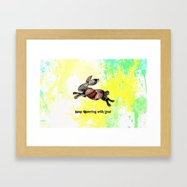 Happy Easter Rabbit - Keep Runing with You Framed Art Print