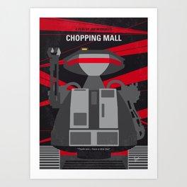 No1145 My Chopping mall minimal movie poster Art Print