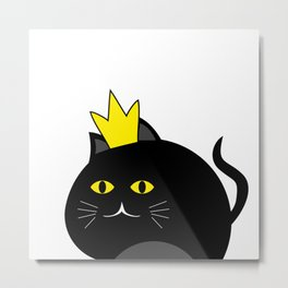 Little princess cat #society6 #decor #buyart #artprint Metal Print