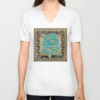 alchemy V-neck T-shirts featuring Alchemy by Sophia F Gibson