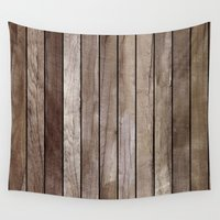 wooden Wall Tapestries featuring Wooden Texture by Patterns and Textures