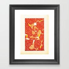 - strange drma - Framed Art Print