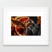 katniss Framed Art Prints featuring Katniss by MetaWorks