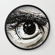 Doubt Black Eyes Wall Clock