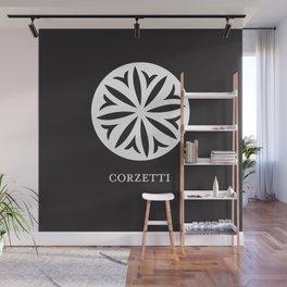 Pasta Series: Corzetti, Black Wall Mural