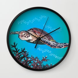Green Sea Turtle Wall Clock
