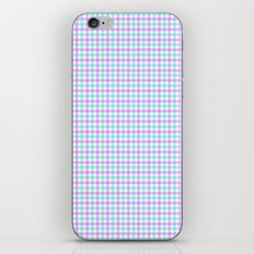 Gingham purple and teal iPhone & iPod Skin