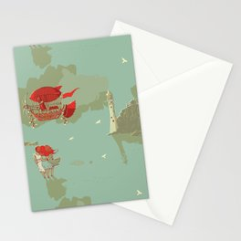 Airship and the Irish Lighthouse Stationery Cards