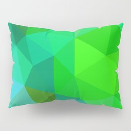 Emerald Low Poly Pillow Sham