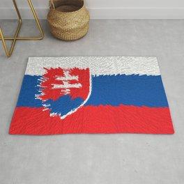 Extruded flag of Slovakia Rug