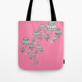 balloons in the pink Tote Bag