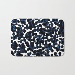 Blue Abstract Watercolour Bath Mat