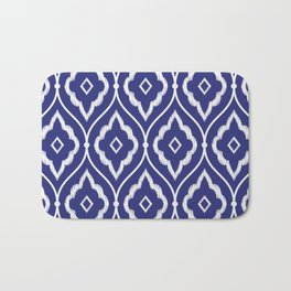 Embroidery vintage pattern illustration with porcelain indigo blue and white Bath Mat