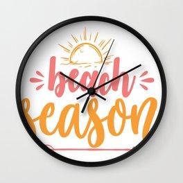 Beach season - Adventure Design Wall Clock