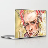 thranduil Laptop & iPad Skins featuring Thranduil by Giulia Colombo