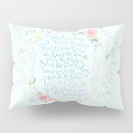 I Will Be With You - Isaiah 43:2 Pillow Sham