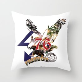 American Fourth of July eagle flytt forever freedom Throw Pillow