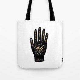 Evil Eye Hand Tote Bag