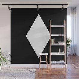 White Diamond ... Black Background Wall Mural