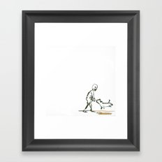 Death and the dog Framed Art Print