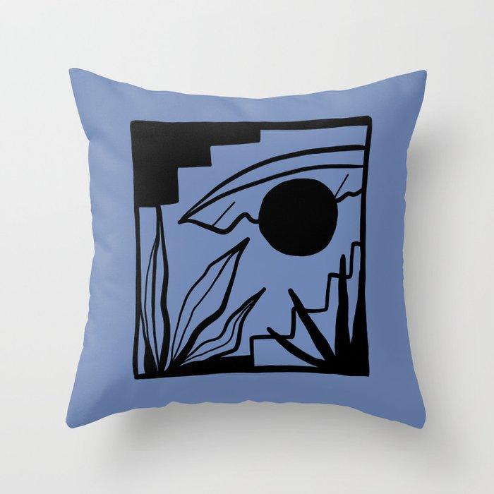 BAJA BLUE Throw Pillow