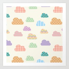 Colorful clouds Art Print